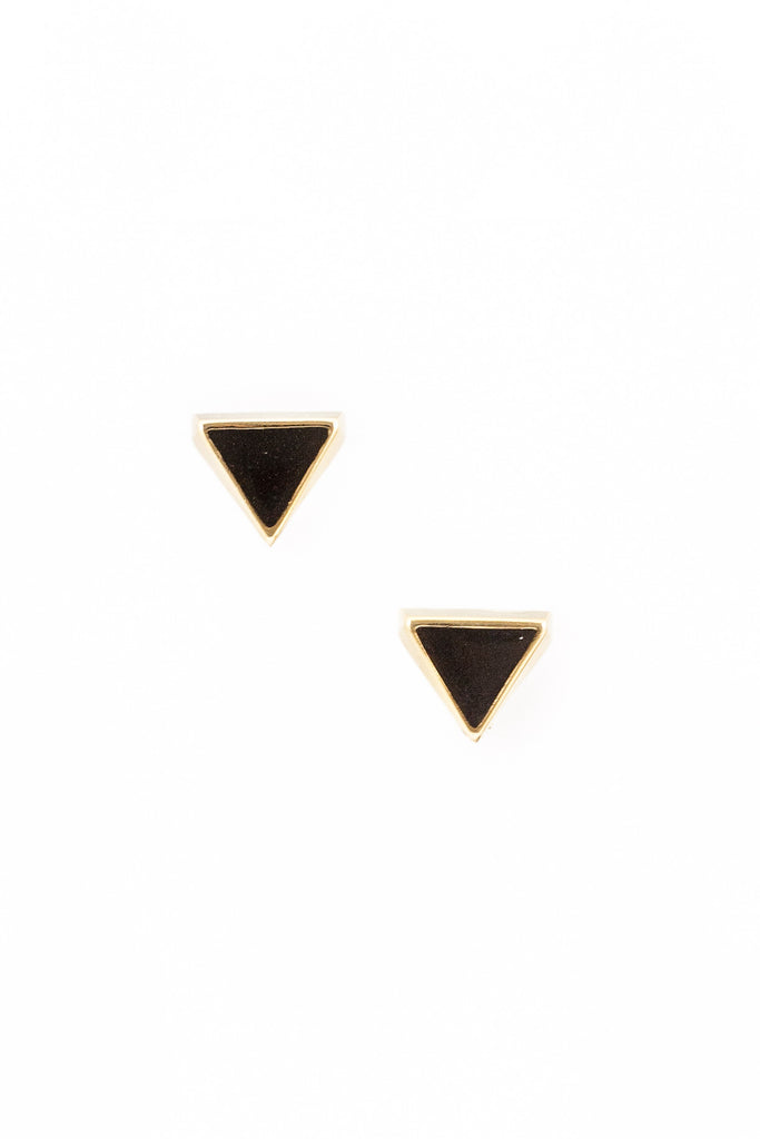 70's__Napier__Chunky Black Triangle Earrings