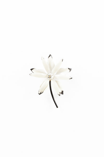 60's__Vintage__White Flower Pin