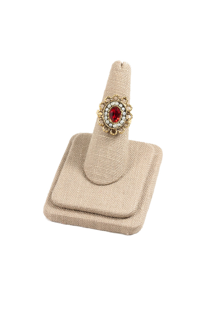 70's__Sarah Coventry__Ruby Pearl Ring