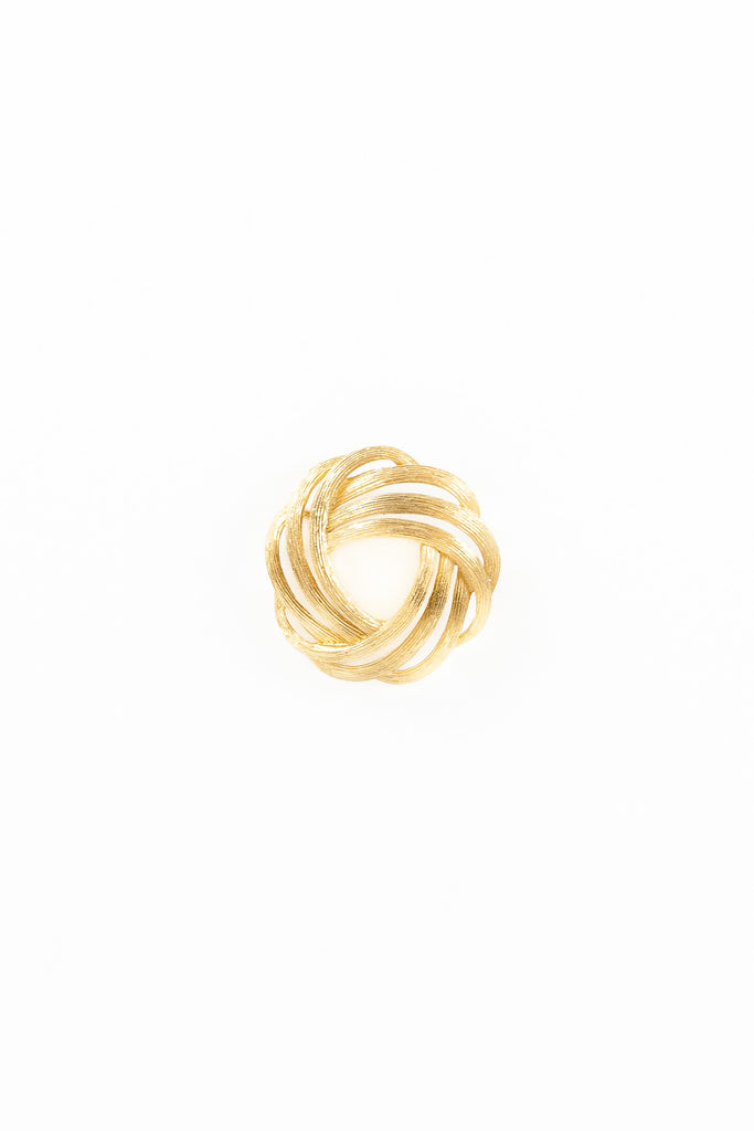 70's__Trifari__Scallop Swirl Pin