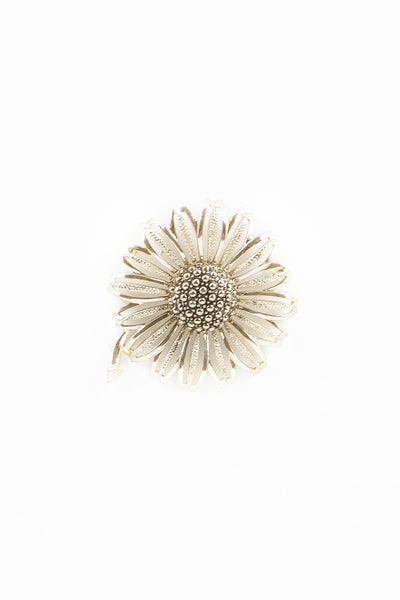 70's__Sarah Coventry__Oversized Sunflower Statement Pin