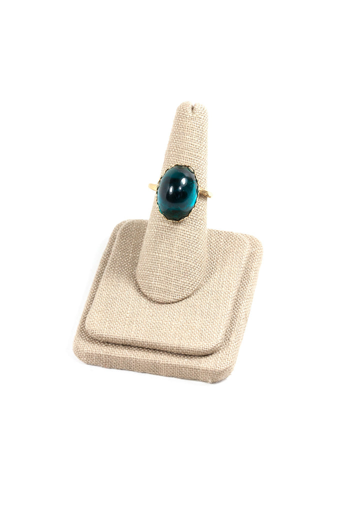 60's__Vintage__Emerald Bauble Ring