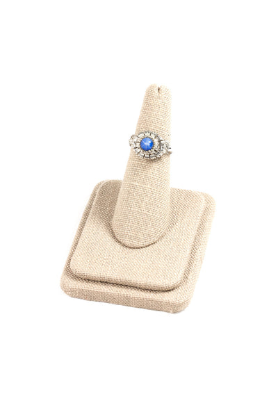70's__Vouge__Blue Stone Ring