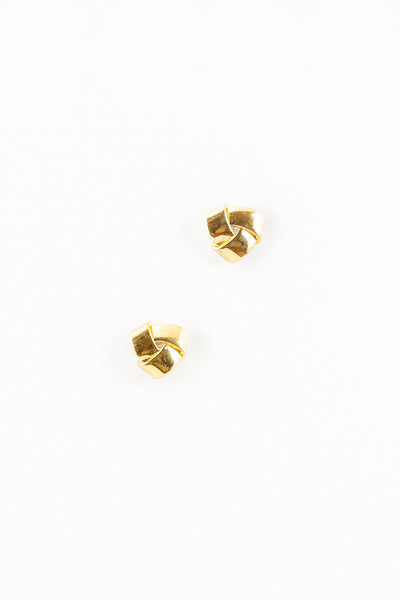 80's__Vintage__Classic Ribbon Knot Stud Earrings