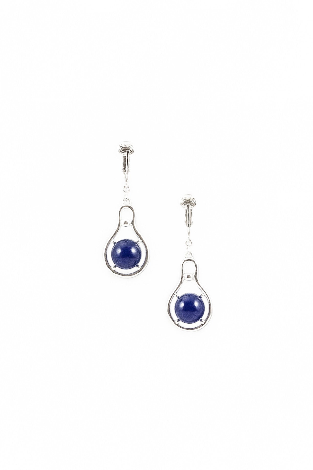 70's__Sarah Coventry__Blue Drop Earrings