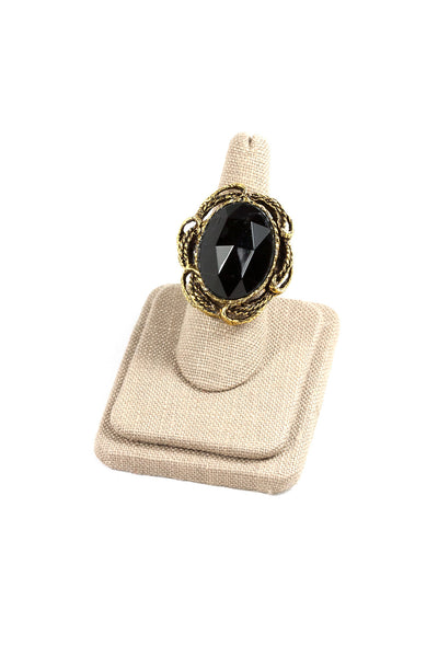 60's__Vintage__Black Stone Statement Ring