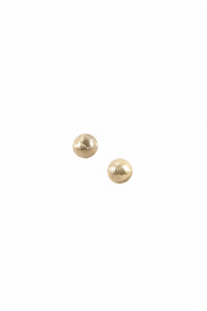 70's__Vintage__Etched Ball Clip-on Stud Earrings