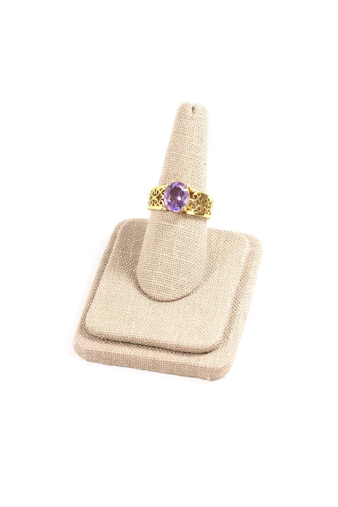 70's__Vintage__Amethyst Statement Ring