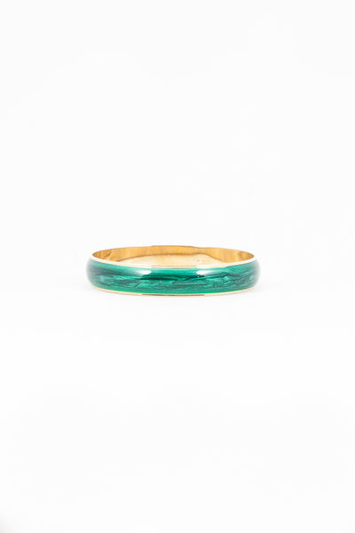 70's__Avon__Emerald Enamel Bangle