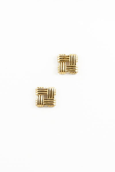 70's__Vintage__Statement Square Earrings