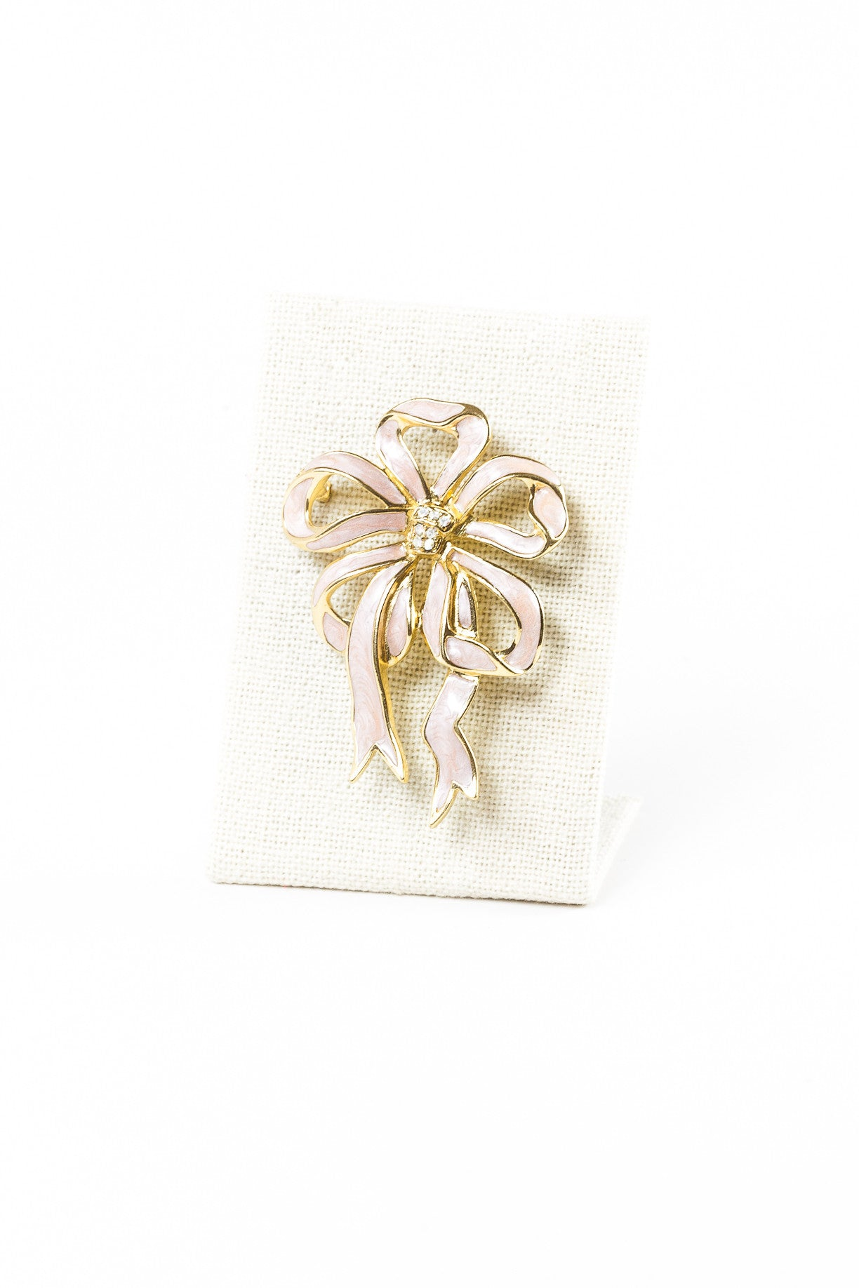 70's__Trifari__Pink Bow Brooch