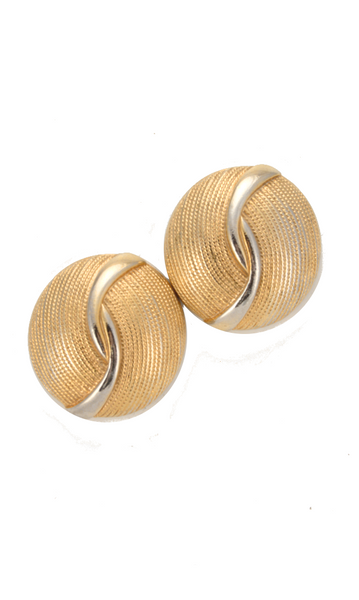 80's__Vintage__Statement Circle Earrings