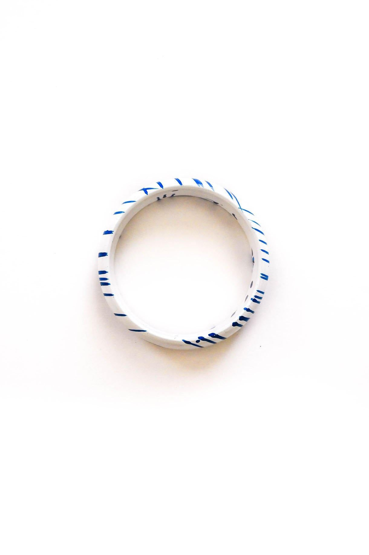 Blue Stripe Bracelet - Sweet & Spark