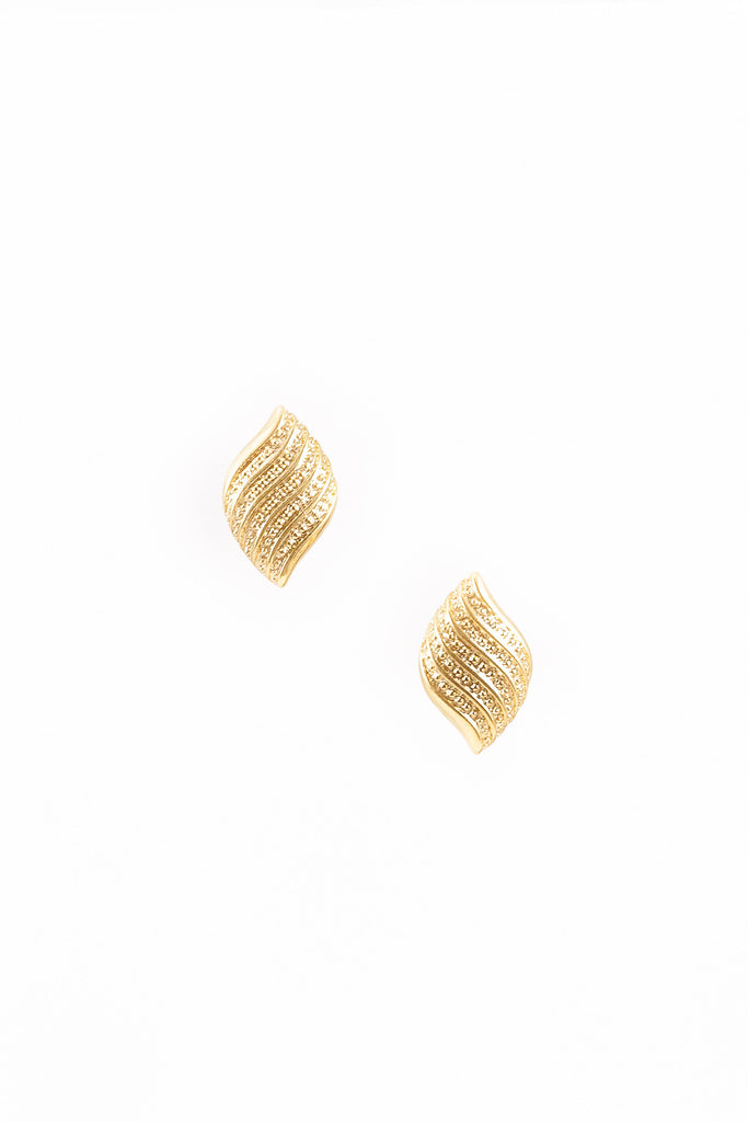 70's__Napier__Swoosh Clip-on Earrings