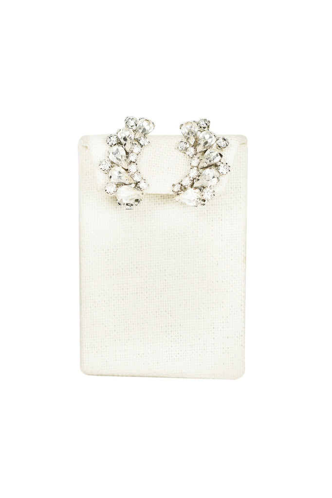 60's__Weiss __Classic Rhinestone Clips