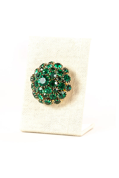 Vintage Emerald Jewel Burst Brooch