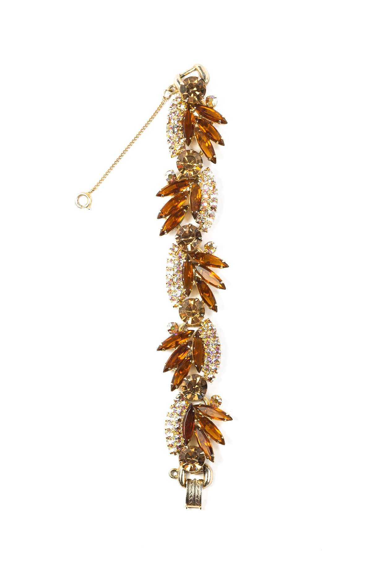 60's__Juliana__Statement Amber Rhinestone Bracelet