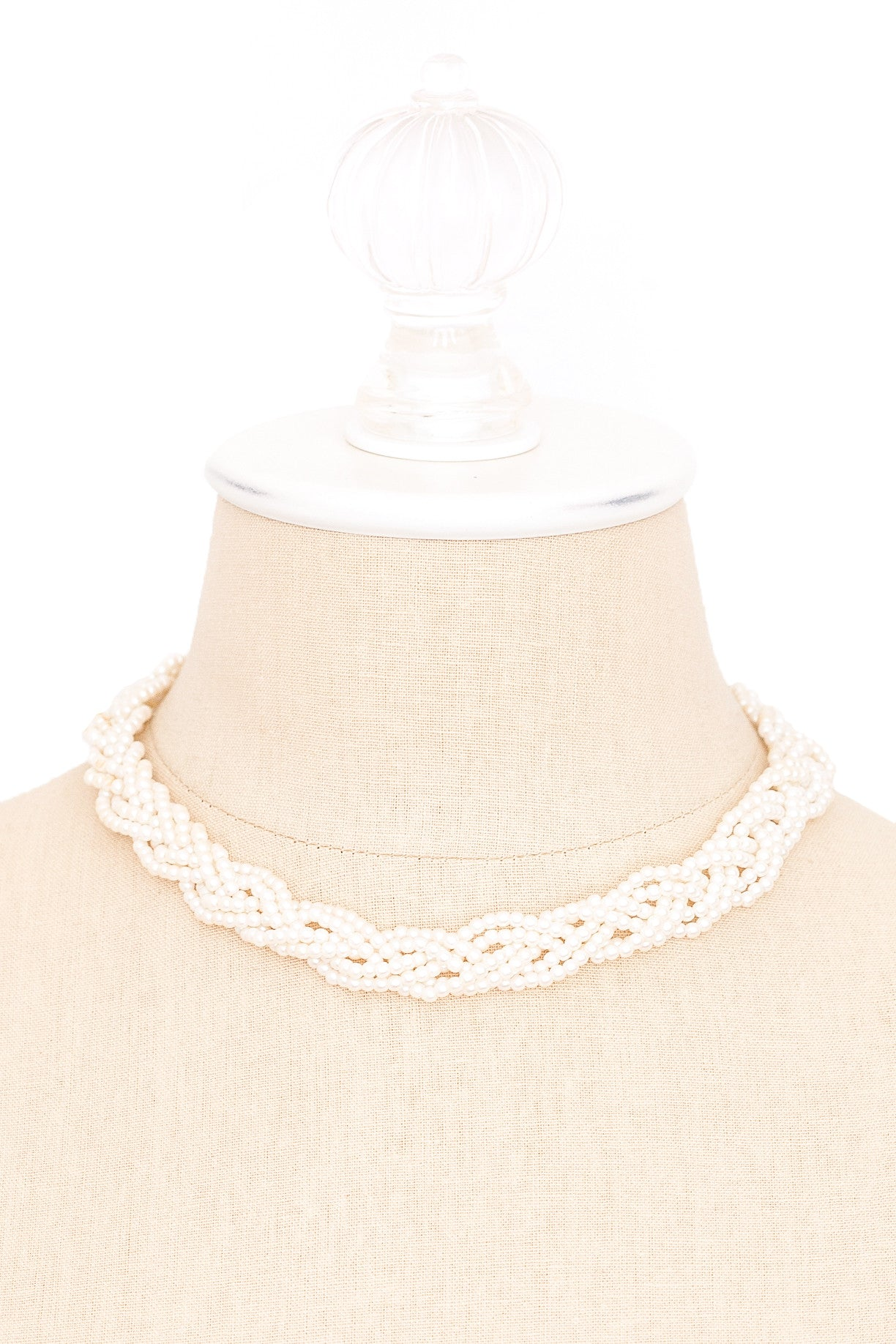 80's__Avon__Braided Pearl Necklace