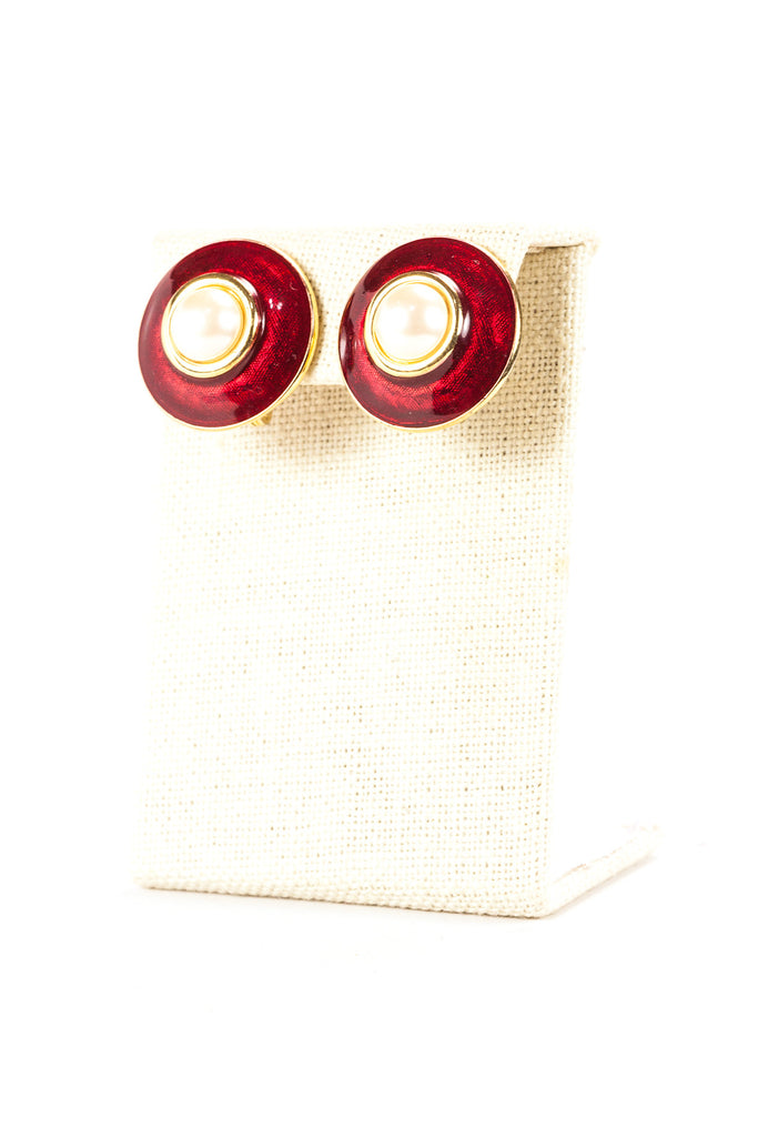 60's__Monet__Red Button Clips