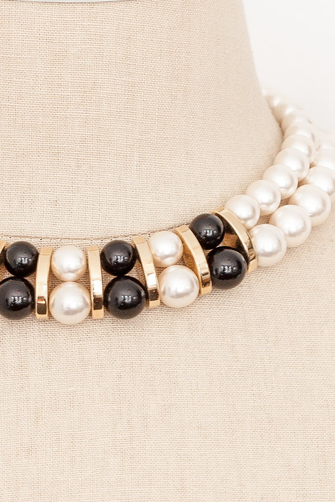 80's__Napier__Statement Pearl Necklace