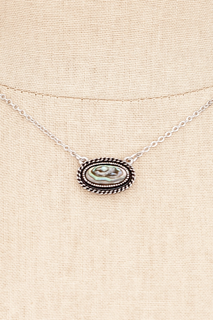 60's__Sarah Coventry__Abalone Necklace