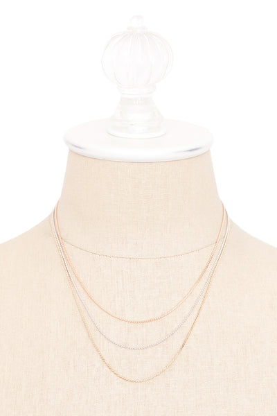 70's__Sarah Coventry__Mixed Metals Dainty Necklace