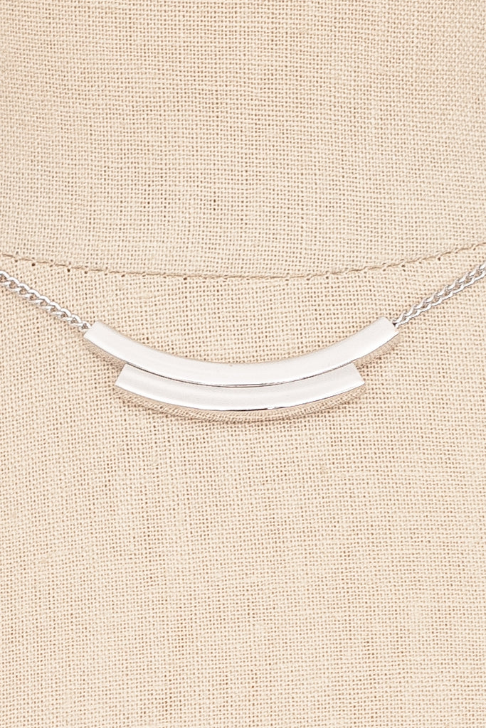 70's__Emmons__Silver Bar Necklace