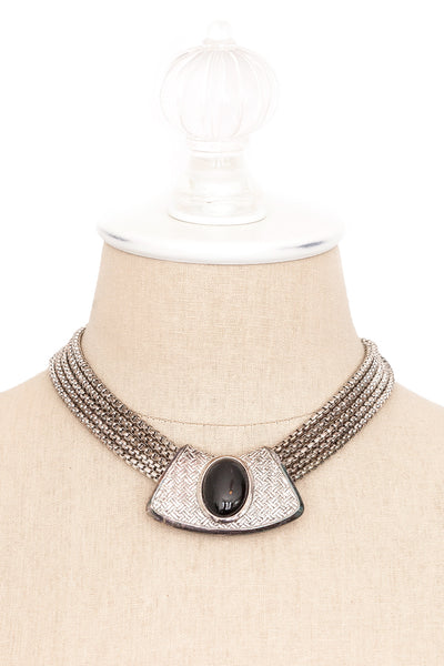 80's__Oscar De La Renta__Chunky Statement Necklace