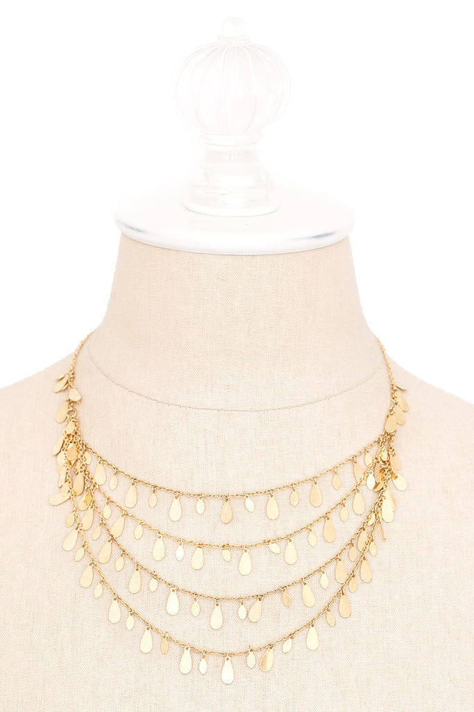 80's__Joan Rivers__Dainty Fringy Necklace