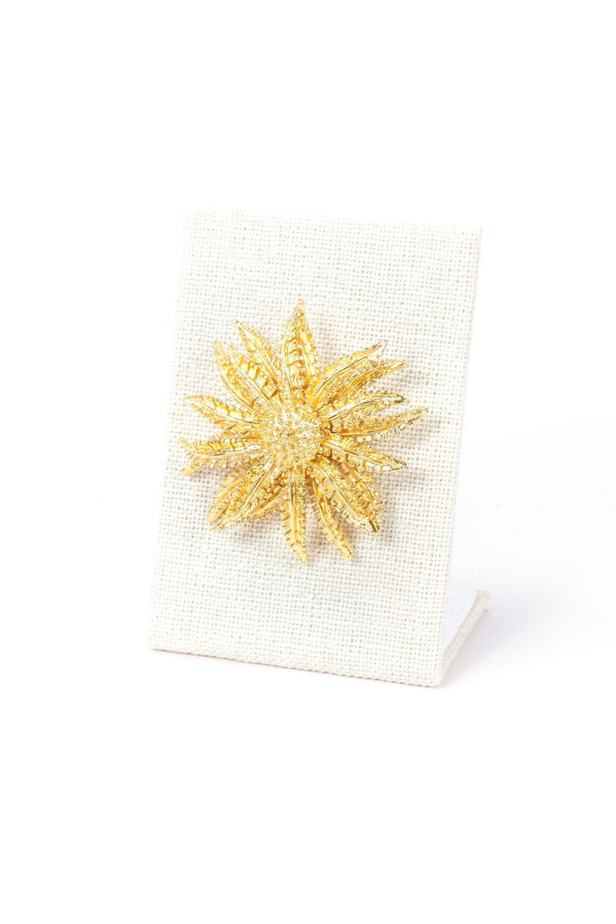 50's__Coro__Sunflower Burst Brooch