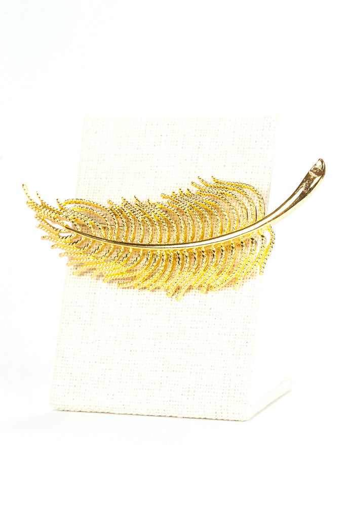 80's__Monet__Bold Feather Brooch