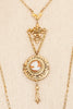 50's__Vintage__Cameo Locket Pendant Necklace