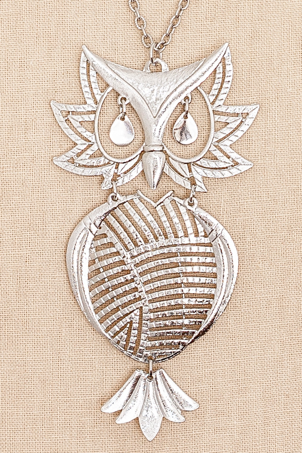 60's__Vintage__Owl Necklace