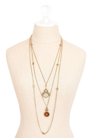 50's__Goldette__Multi Chain Statement Necklace