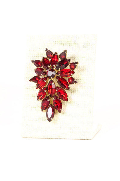 60's__Tammey__Red Jeweled Brooch