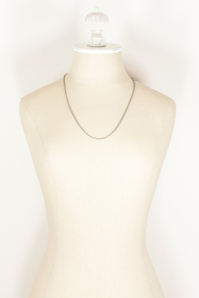 80's__Vintage__Simple Silver Chain