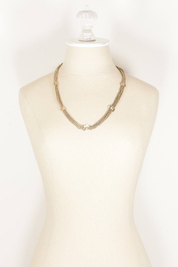 60's__Vintage__Multi Mesh Chain Necklace