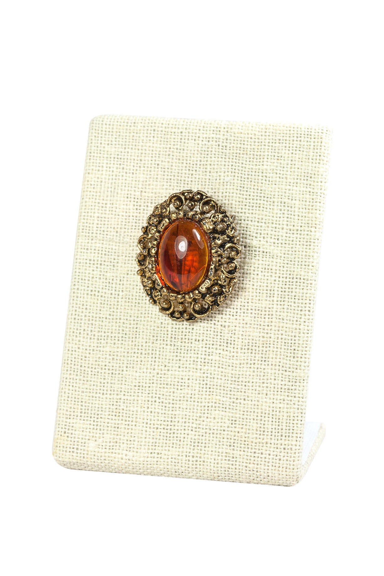 50's__Vintage__Mini Amber Brooch