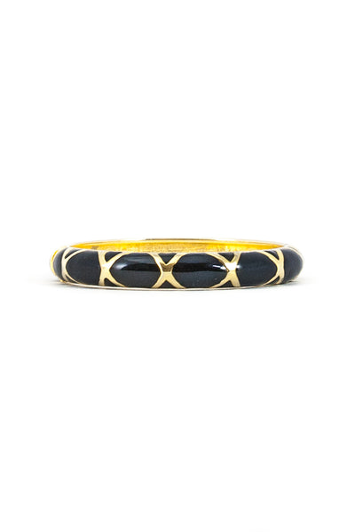 80's__Vintage__Black & Gold Enamel Bangle