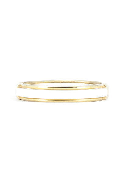 70's__Vintage__White & Gold Bangle