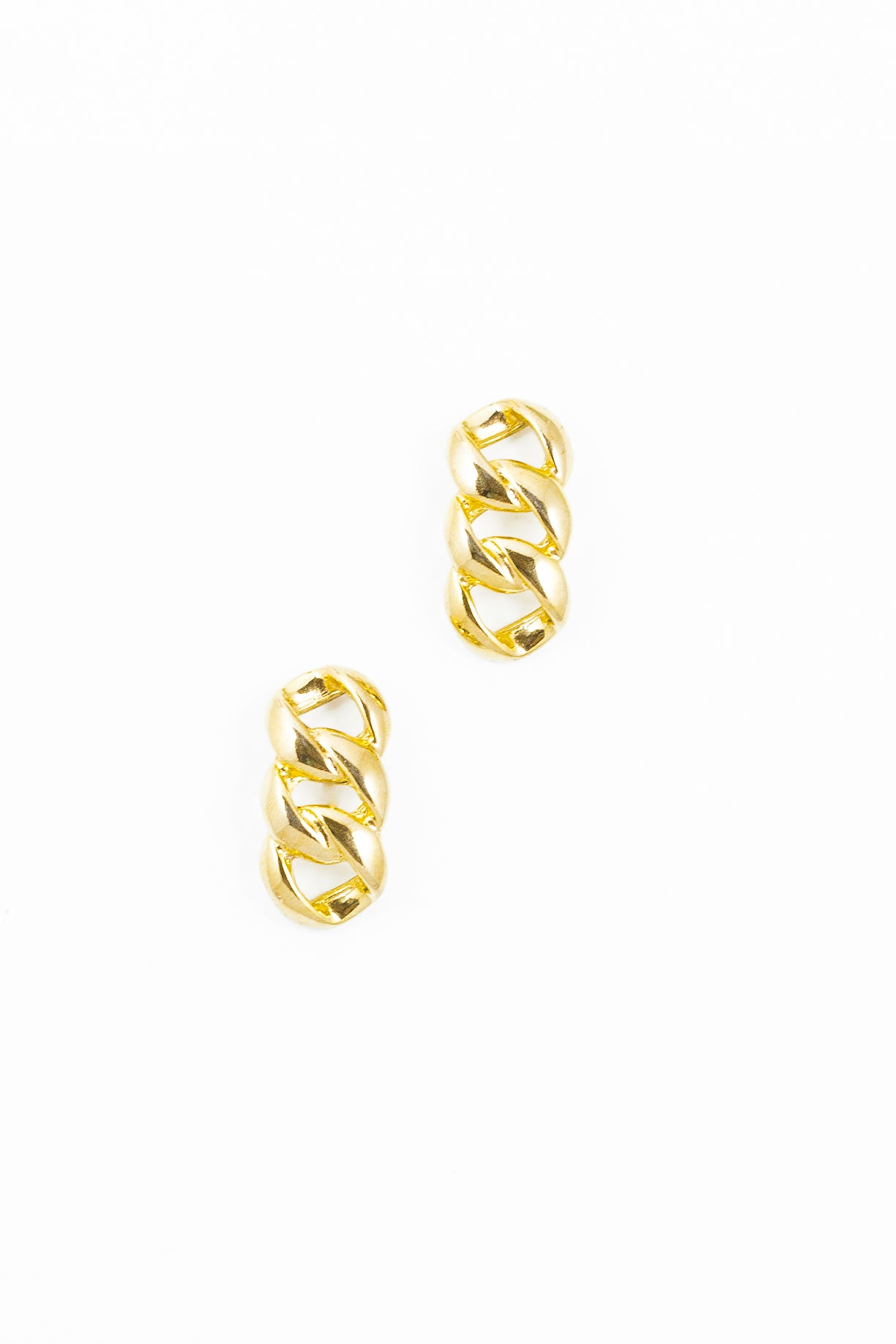 70's__Vintage__Drop Chain Link Earrings