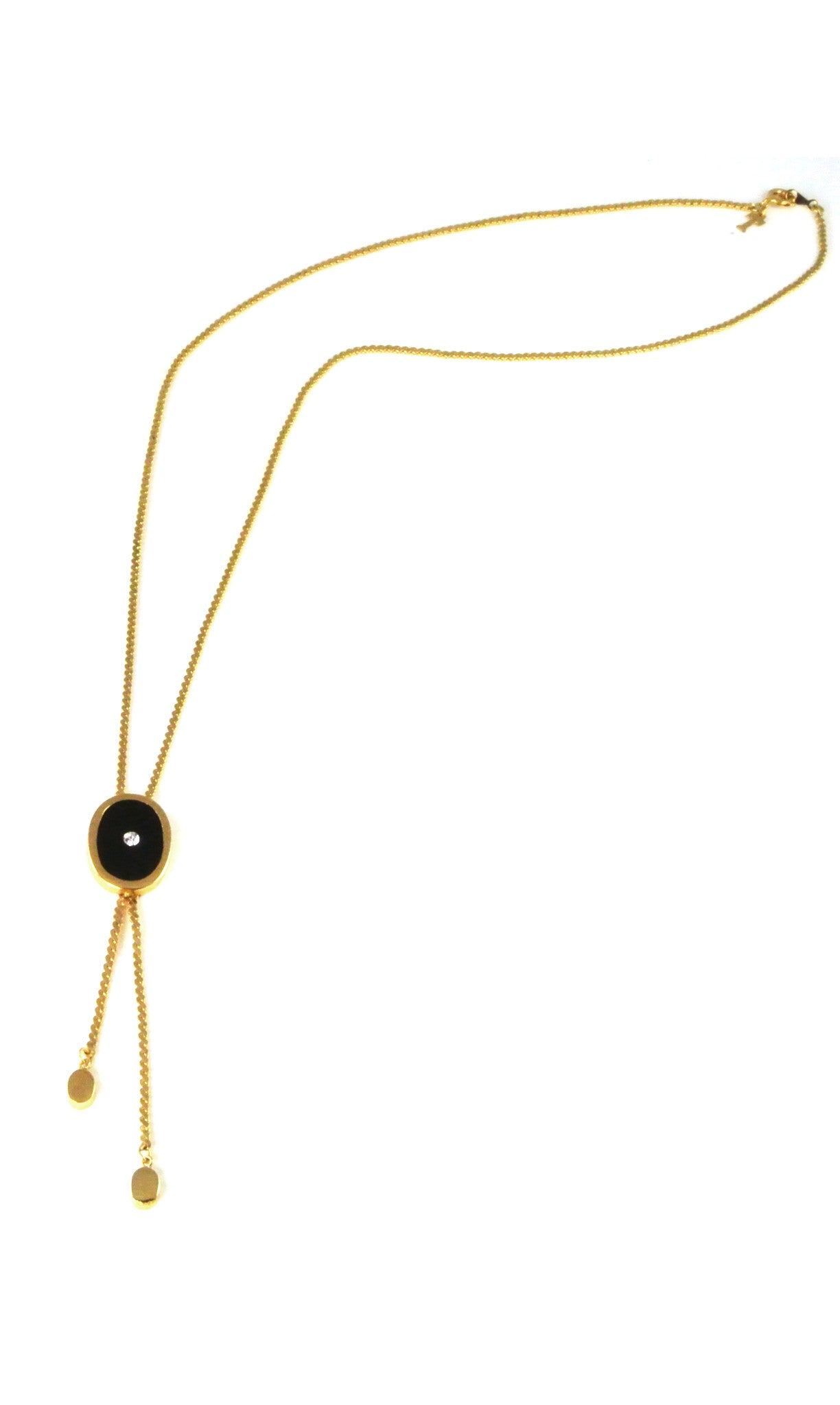 70's__Trifari__Black Bolo Necklace