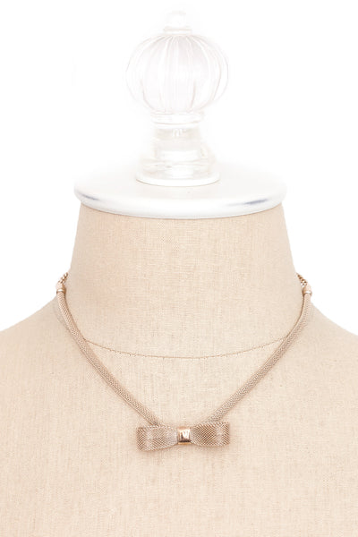 60's__Sarah Coventry__Mesh Bow Necklace
