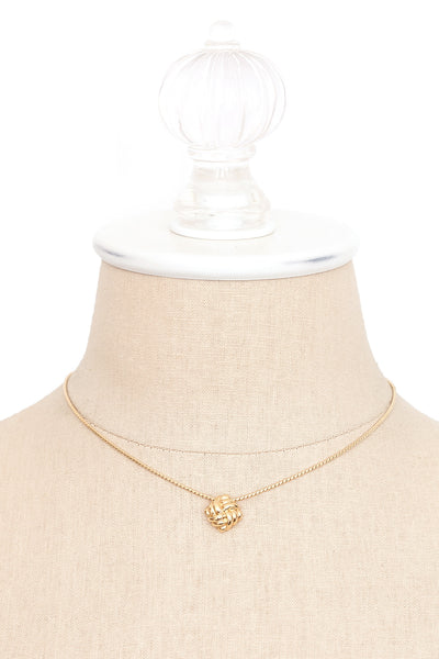 70's__Monet__Dainty Knot Necklace