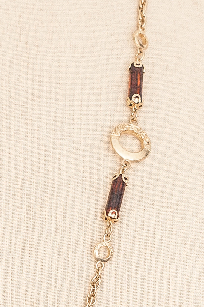 70's__Sarah Coventry__Long Charm Necklace