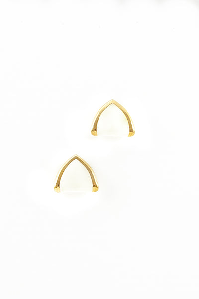 70's__Monet__Triangle Fold-over Earrings