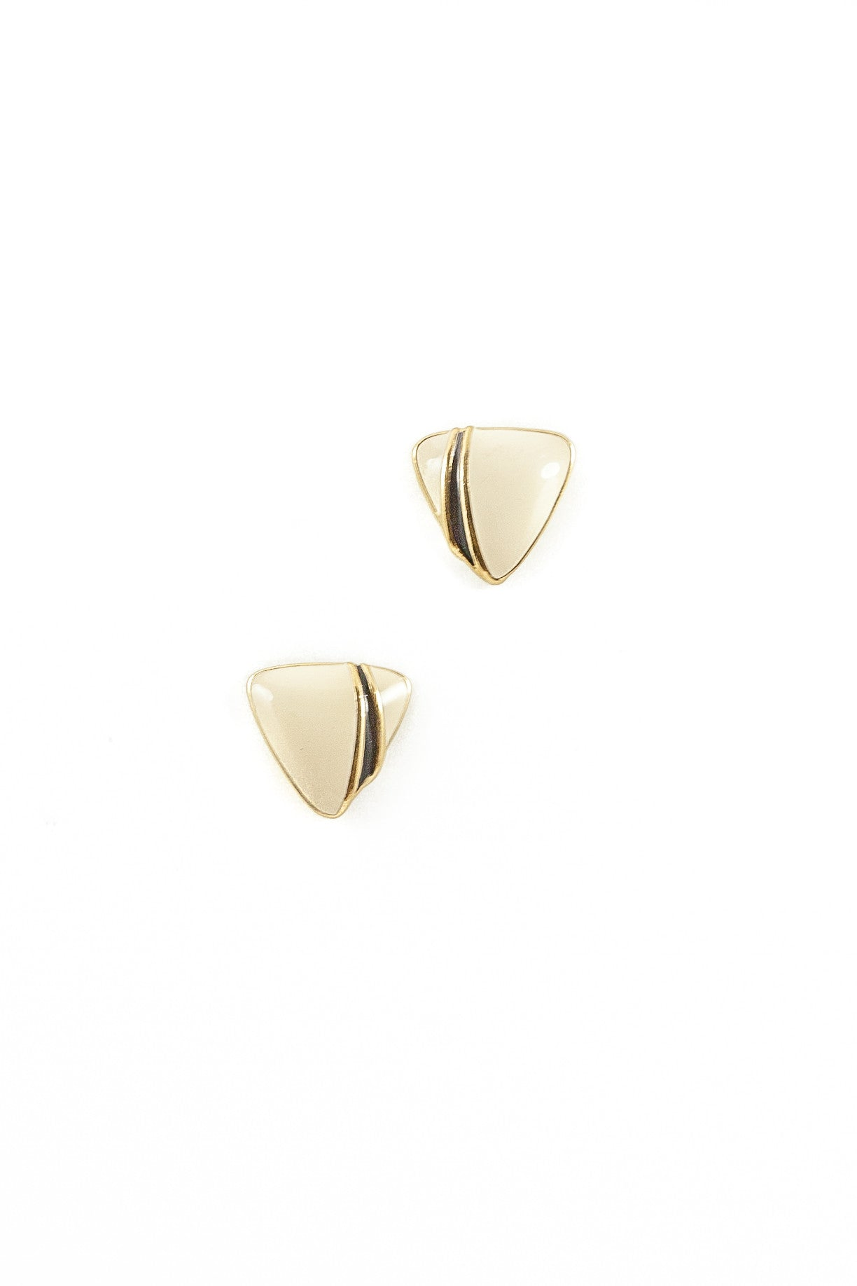 70's__Trifari__Triangle Enamel Statement Studs