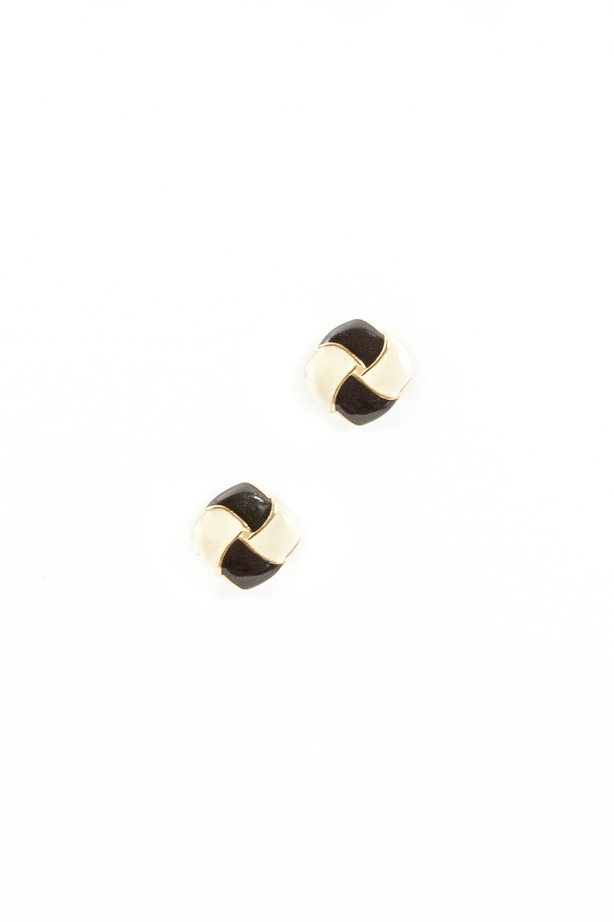 70's__Vintage__Checkered Square Earrings