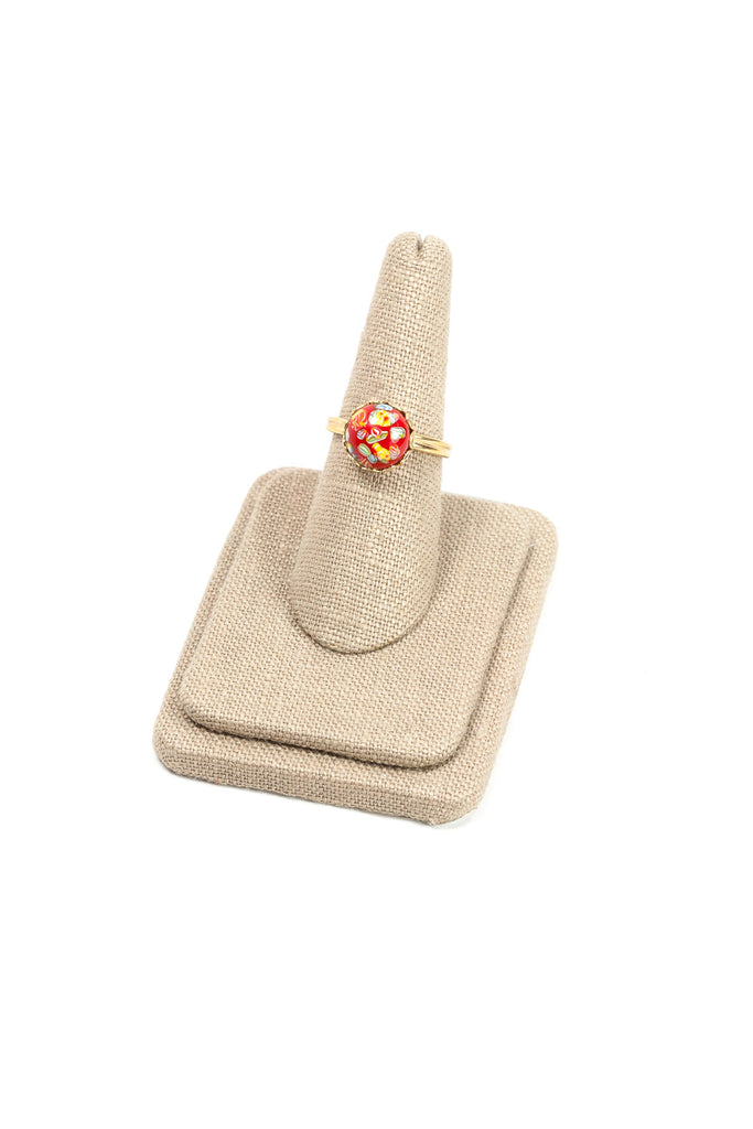 60's__Sarah Coventry__Adjustable Red Ring