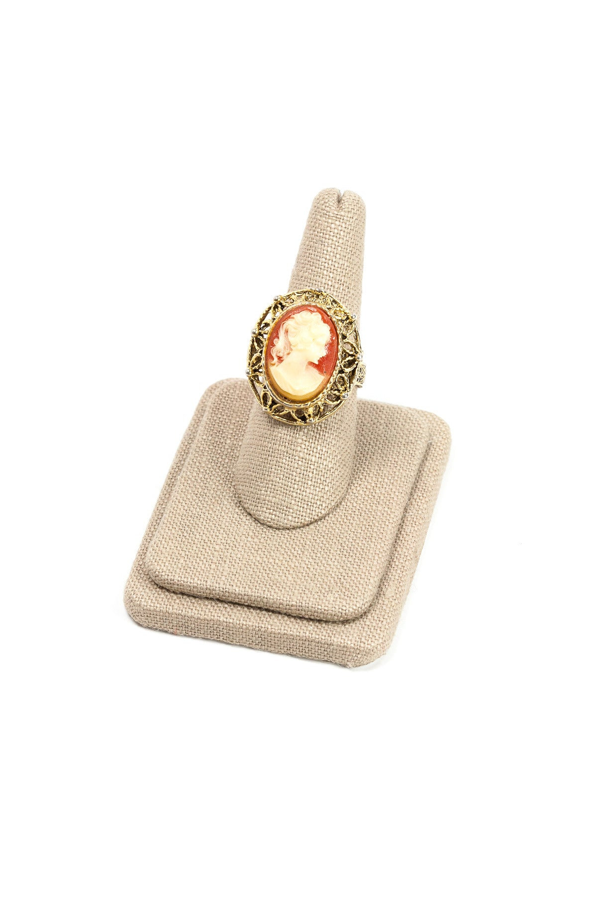 60's__Vintage__Adjustable Cameo Ring